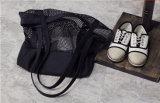 Bolsos de compras de la red del algodón del ocio de la manera y bolsos de totalizador del acoplamiento (FLY-NBD811)