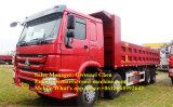Dumper de tombereau de camion à benne basculante des roues HOWO 8X4 de Sinotruk 12, 50-60 tonnes, 371HP, Rhd/LHD avec un dormeur