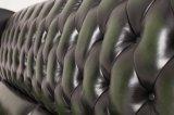 Klassische antike Chesterfield-lederne Sofa-Möbel