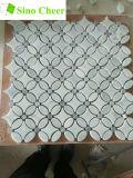 Carrelage en pierre naturelle Mosaïques blanches Carrelage en marbre Mosaïque en pierre
