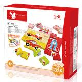O enigma educacional do cartão do estudo do tráfego do brinquedo DIY obstrui o brinquedo
