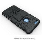 Caja de la armadura del neumático con el soporte para el iPhone 5 6s para la caja del teléfono móvil de Samsung S6 S7