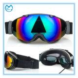 Óculos de proteção personalizados do esqui da névoa da proteção UV colorida do revestimento anti