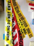 De plastic Band van de Scène van de Misdaad van de Band van de Voorzichtigheid van de Politie op een Broodje