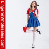 Der reizvollen Frauen Kostüm Mario-Klempner-Halloween-Cosplay
