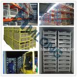 Gaiolas dobráveis do armazenamento do engranzamento de fio do metal