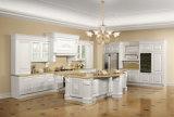 白い米国式の純木の台所家具(zq-019)