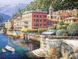 Pintura al óleo hecha a mano de la lona mediterránea