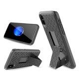 쉘 권총휴대 주머니 iPhone 8 Kickstand PC 상자를 위한 결합 전화 상자 주거