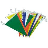 Indicateurs bon marché d'impression de triangle populaire en gros de couleur pour la fête de Noël