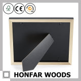 Moderner schwarzer festes Holz-Baby-Foto-Rahmen mit Lehm