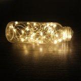 Angeschaltene LED kupferner Draht-Zeichenkette-Solarlichter des Qualitäts-preiswerten Preis-