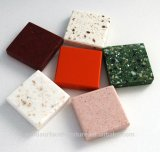 Coustomed 긴 테이블 싱크대를 위한 대리석 무늬를 넣는 설계된 인공적인 수정같은 석영 돌 석판