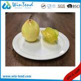 Assiette blanche en gros de plaque plate de buffet de porcelaine
