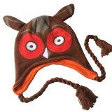 Печатание сыча зимы детей малышей вязание крючком Earflap Beanie милого теплое связанное напольное покрывает головной шлем авиатора лыжи грелки уха (HW613)