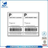 Etiqueta autoadhesiva de encargo del envío del papel de imprenta A4