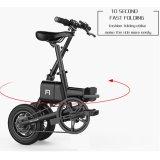 36V pliant la mini bicyclette électrique avec la batterie au lithium d'atterrisseur de desserrage rapide