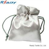 Fabrik-Preis Beid-Seite grauer Satindrawstring-Beutel für Jewelry&Gift