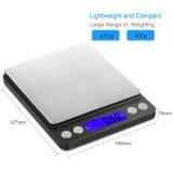 escala Pocket de la cocina de la escala del peso de 500g Digitaces Ewelry