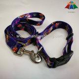 Collar de perro de nylon del animal doméstico respetuoso del medio ambiente grande de la impresión