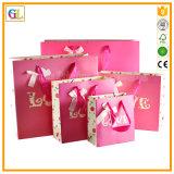 Sacchetto di carta su ordinazione del regalo di acquisto con il commercio all'ingrosso della stampa di marchio