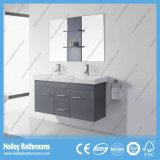 Vanité de salle de bains de bassins de double de qualité supérieur de forces de défense principale avec 2 portes et 2 tiroirs (BF376D)