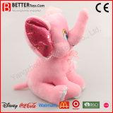 子供のためのかわいい詰められたプラシ天のピンク象のおもちゃ