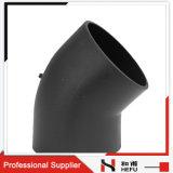 Metrische HDPE van de Pijp Contactdoos Van uitstekende kwaliteit de Fabrikant van de Elleboog van 45 Graad
