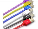 Venda por atacado 1m colorido trançado pesca rede micro cabo de dados USB
