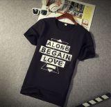 Camiseta del estilo hombres originales coreanos del comercio exterior de los solos