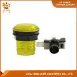 IP40 보호 수준 황색 LED 33mm 누름단추식 전쟁 스위치 Pbs-003