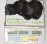 I capelli umani brasiliani naturali Labor non trattati dell'onda 100% del corpo dei capelli del Virgin di estensione 105g (+/-2g) /Bundle dei capelli tessono il grado 8A