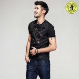 T-shirt 100% rond de chemise de circuit de collet de coton de modèle de service d'OEM de constructeur de T-shirts d'hommes