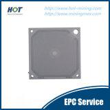 Plaque hydraulique automatique à haute pression imperméable à l'eau de filtre-presse de membrane de pp