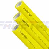 Amarillo PPR-Al-PPR / PPR-Al-Pert compuesto de tuberías para agua caliente