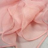Lenço longo de seda puro de 100% Georgette para mulheres no outono
