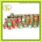 통조림으로 만들어진 토마토 페이스트 식물성 제조자 건강한 통조림