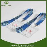 Держатель значка карточки удостоверения личности PVC оптовой ясности названный с талрепом