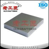 Carboneto cimentado do tungstênio em branco da placa K20 usado para as peças do desgaste