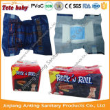 Tecidos descartáveis barato orgânicos populares do bebê do estilo das calças de brim