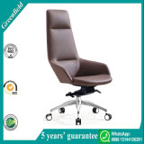 Moderner lederner hoher rückseitiges Büro-Stuhl