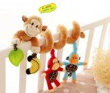유모차와 침대를 위한 주문 아기 견면 벨벳 나선 장난감