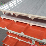 el panel de emparedado de la azotea de la PU del papel de la PU del espesor de 20m m y de la hoja de acero