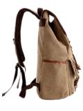 Хаки цвет помыл мешок Backpack перемещения напольных спортов отдыха школы холстины