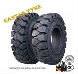 pneu du cliquetis 6.50X10, pneus solides d'ajustement facile 650-10 pour le chariot gerbeur de Linde