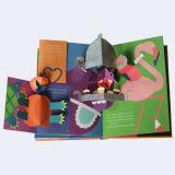 L'image bien projetée polychrome de fleurs de bonne qualité sautent vers le haut l'impression de livre