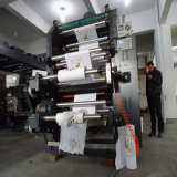 Type machine de pile de six couleurs d'impression de Flexo