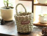 (BC-SF1021)環境に優しいハンドメイドの自然なわらの花のバスケット