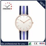 El movimiento de Japón del reloj del acero inoxidable de Writswatch mira la correa de nylon (DC-474)