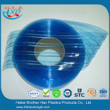 Eco-Friendly подгонянная голубая двойная Ribbed прокладка занавеса двери PVC пластмассы
